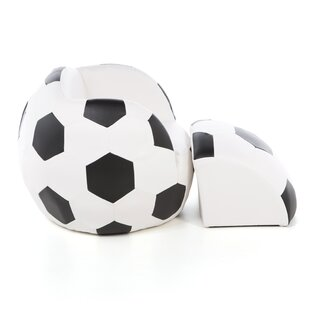 Irving Soccer Ball Kids Novelty Chair and Ottoman by Zoomie Kids
