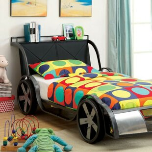 Nectar Car Twin Upholstered Panel Bed by Zoomie Kids