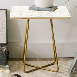 Clearance Holli Zollinger Sunburst Light Square End Table by East Urban Home