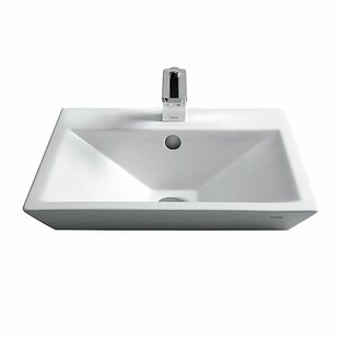 Toto Kiwami Ceramic Square Vessel Bathroom Sink with Faucet