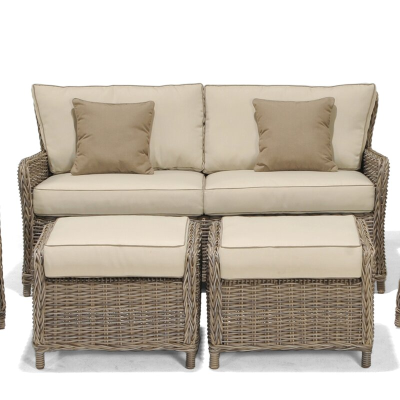Outstanding Avadi Outdoor Sofa Ottomans 3 Piece Set Creativecarmelina Interior Chair Design Creativecarmelinacom