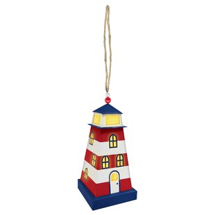 Amscan Summer Lighthouse Mini LED Outdoor Hanging Lantern