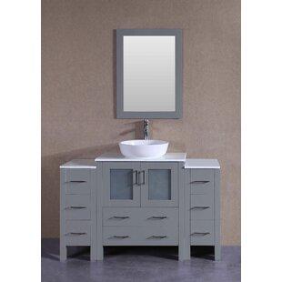 Hillsboro 54 Single Bathroom Vanity Set with Mirror By Highland Dunes