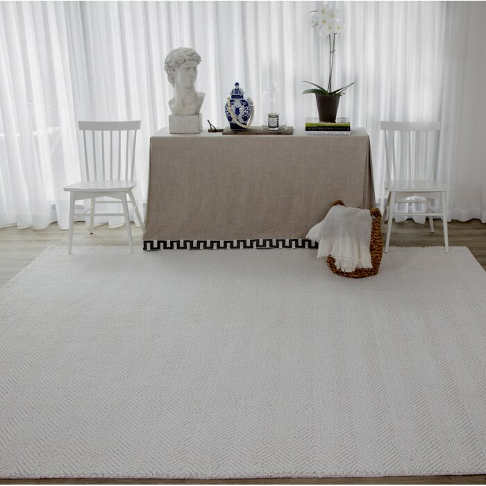 Ledgebrook Washington Hand Woven Wool Ivory Area Rug