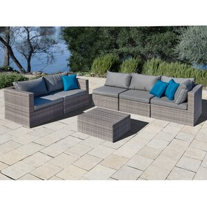 East Helena 6 Piece Sectional Set with Cushions