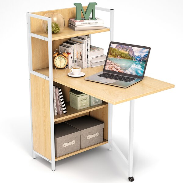 Cogdill Rectangular Floating Desk With Hutch by Ebern Designs