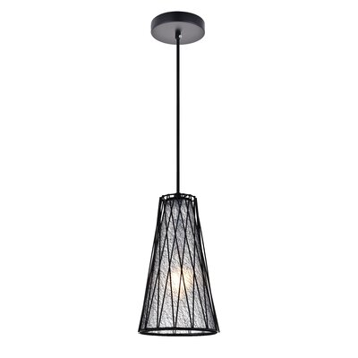 1 Light Brooklawn 1 Light Black Pendant Wrought Studio Finish Black