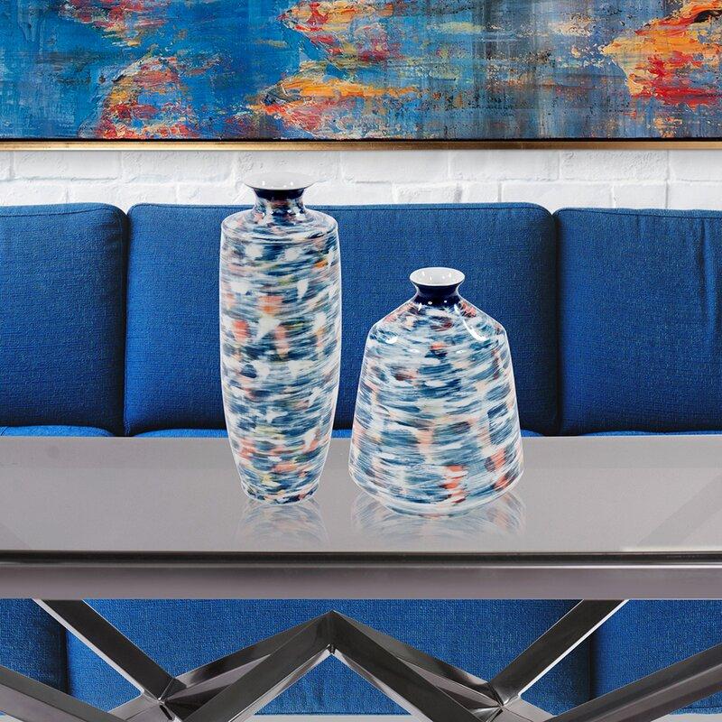 Merton Brushed Ceramic Flared Table Vase