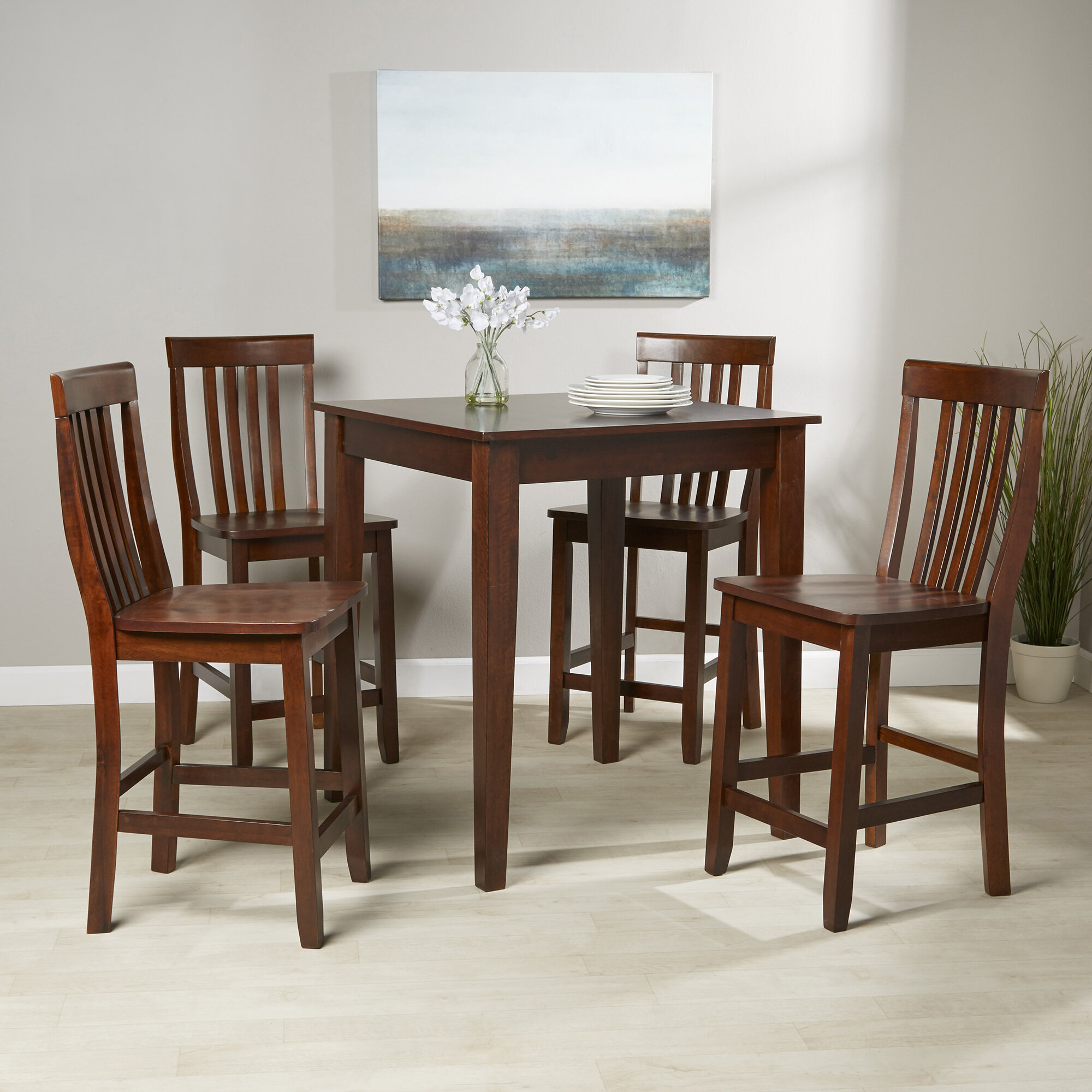Mcgonigal 5 Piece Pub Table Set T