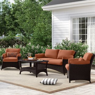Asherman 4 Piece Sofa Set with Cushions
