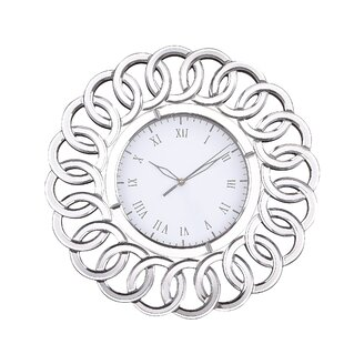 Round Clear Mirror 17 Wall Clock by Latitude Run