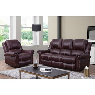 Lopp 2 Piece Leather Living Room Set by R..
