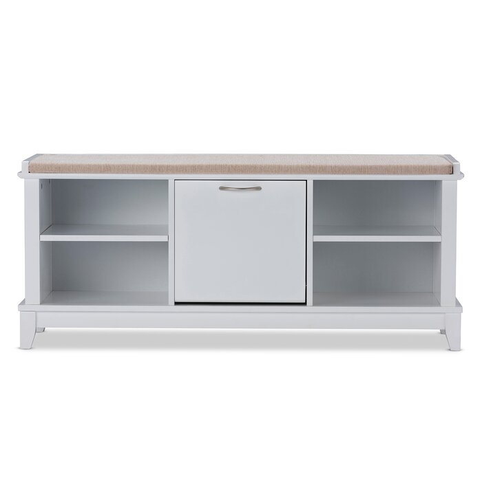 Marvelous Baxton Studio Swiss Modern And Contemporary White Wooden Shoe Storage Seating Bench Ocoug Best Dining Table And Chair Ideas Images Ocougorg