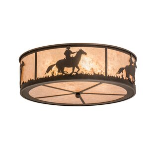 Loon Peak Younts Cowboy 4-Light Outdoor Flush Mount