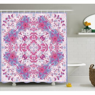 Delano Boho Ethnic Floral Single Shower Curtain by Bungalow Rose Best Design