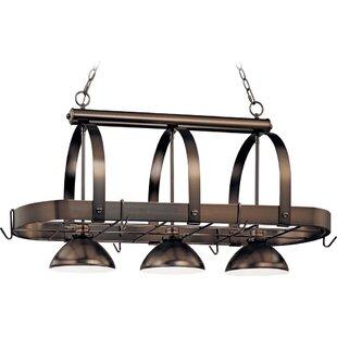Volume Lighting 3-Light Pot Rack