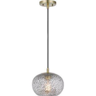 Claar 1-Light Globe Pendant by Wrought Studio