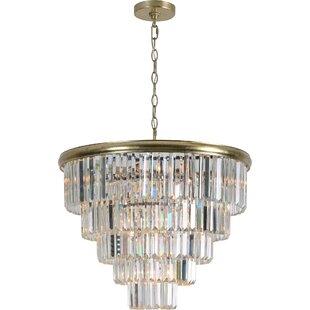 Estevan 10-Light Crystal Chandelier by Rosdorf Park