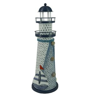Nautical Anchor Metal Vintage Openwork Ocean Lighthouse Color Changing LED Lantern Night Light By Attraction Design Home Wall Lights
