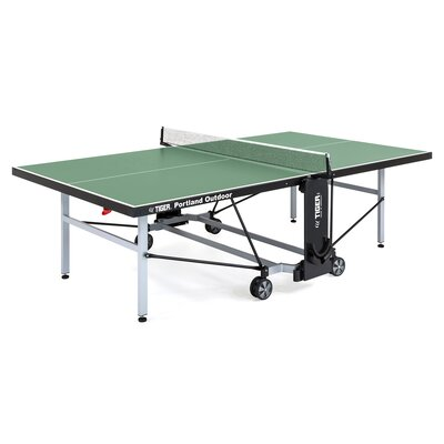 Portland Ping Pong Regulation Size Foldable Indoor/Outdoor Table Tennis Table TigerPingPong Finish/Color: Green