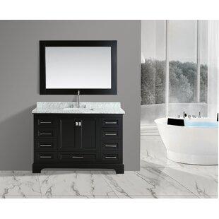 Saugatuck 54 Single Bathroom Vanity Set with Mirror by Orren Ellis