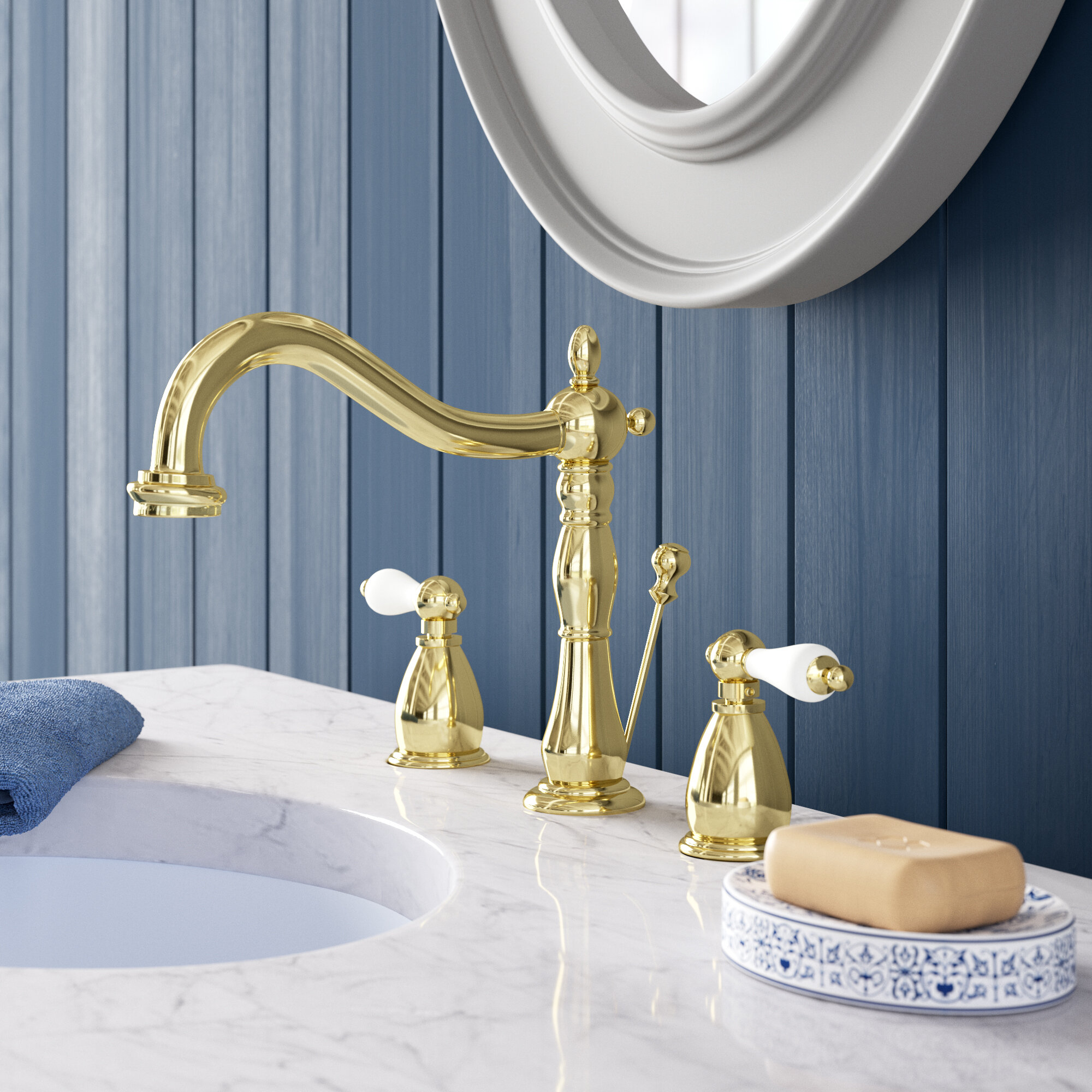 Heritage Widespread Bathroom Faucet With Drain Assembly Reviews Birch Lane
