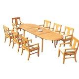 Kevon 9 Piece Teak Dining Set