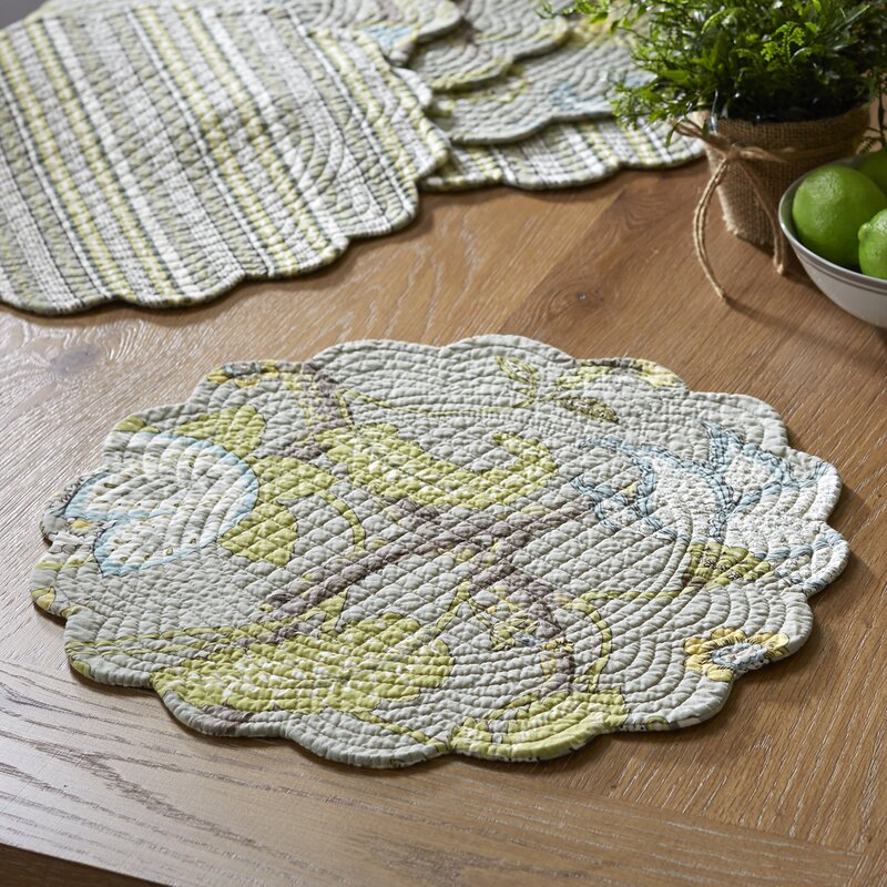 Dartford Round Quilted Placemats & Reviews   Birch Lane : quilted placemats - Adamdwight.com