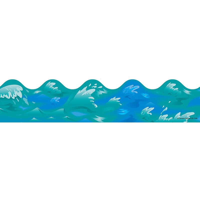 Ocean Waves Scalloped Classroom Border
