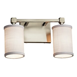 Ebern Designs Favela Tetra 2 Light LED Cylinder w/ Flat Rim Vanity Light