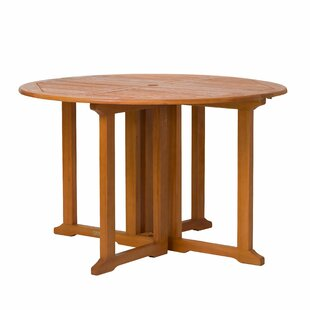 Kelbark Folding Solid Wood Dining Table by Bay Isle Home