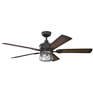 60 Pakwa 5 Blade Patio Outdoor LED Ceiling Fan, Light Kit Included