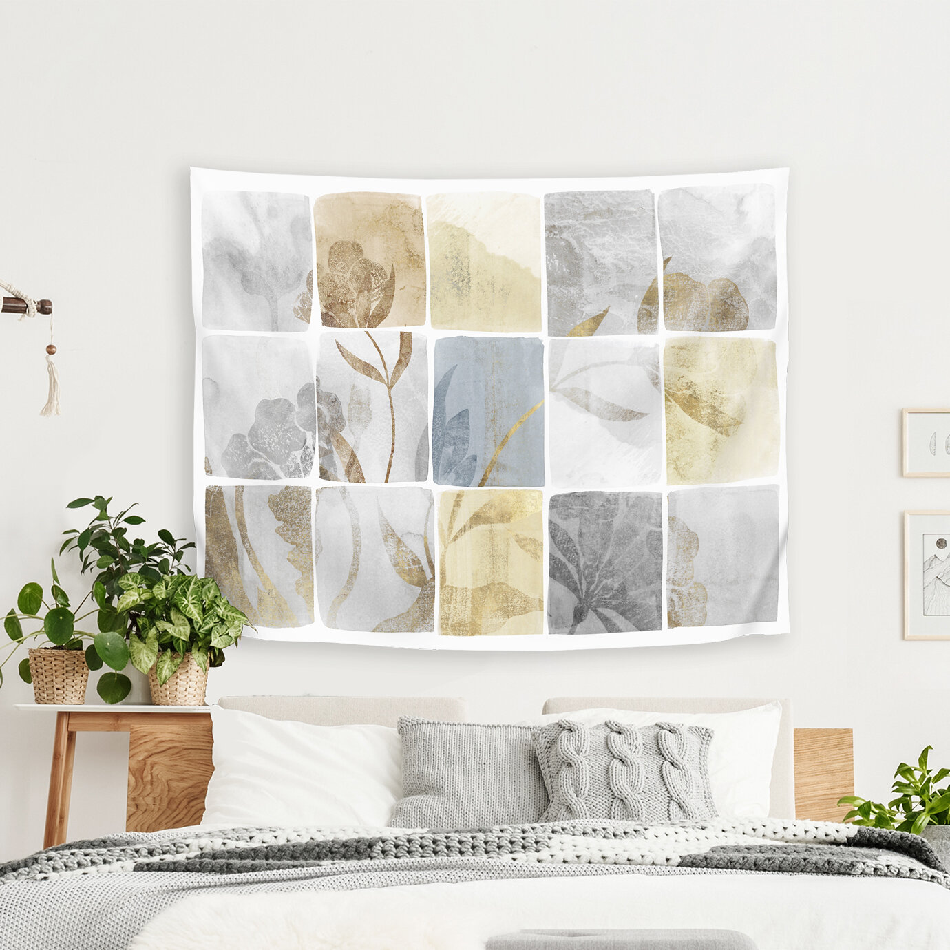 East Urban Home Pi Creative Art Neutral Titles Tapestry Wayfair