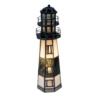 Online Reviews Montauk Point Lighthouse 9.5 Table Lamp By Meyda Tiffany