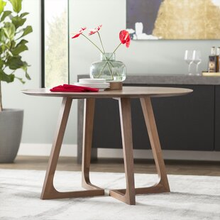 Hartleton Solid Wood Dining Table Wade Logan
