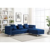 Zaida 104 Reversible Sectional by House of Hampton®