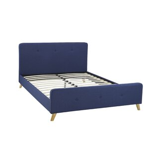 Tufted Upholstered Platform Bed by Brassex