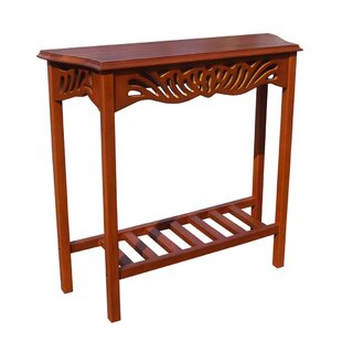 Charlton Home Greenlawn Mahogany Entrance Console Table