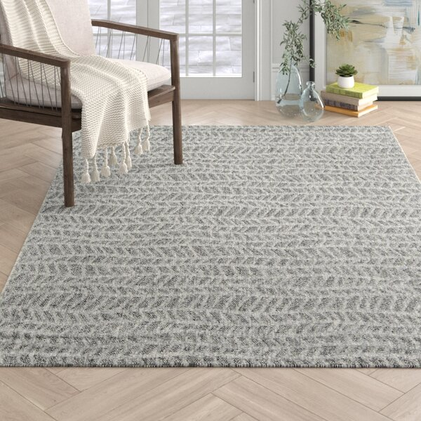 Emilia Striped Gray Indoor Area Rug by Joss & Main