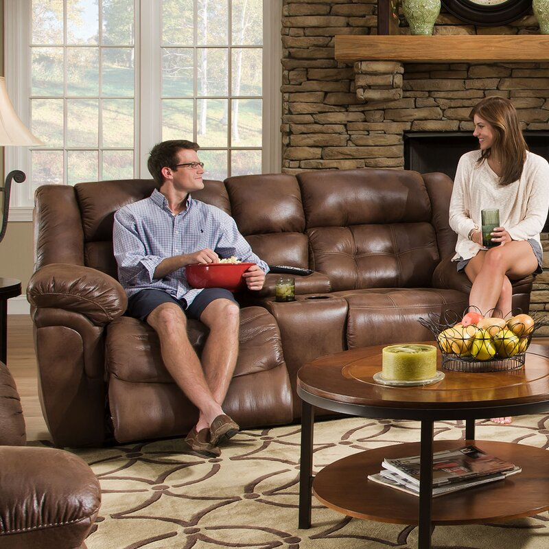 Superb Simmons Upholstery Hanna Motion Console Reclining Sofa Ibusinesslaw Wood Chair Design Ideas Ibusinesslaworg
