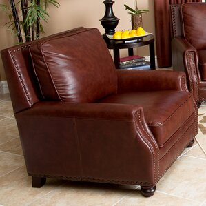 st lucia hand rubbed leather armchair