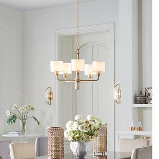 Jancis 5-Light Shaded Chandelier by Mercer41