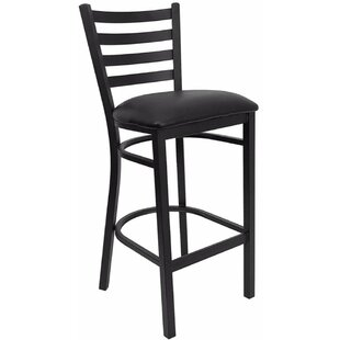 Dryden Modern 31 Bar Stool with Cushion Red Barrel Studio