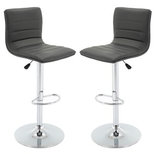 Orren Ellis Bezanson Adjustable Height Swivel Bar Stool (Set of 2)