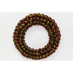 Festive 40cm Bakuli Pod Christmas Wreath By The Seasonal Aisle