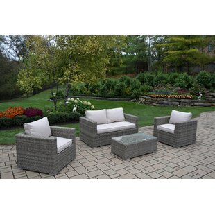 Borneo 4 Piece Sofa Set With Cushions by Oakland Living Best
