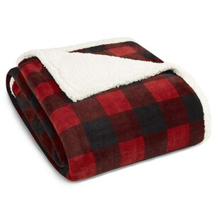 Mountain Plaid Sherpa Fleece Blanket