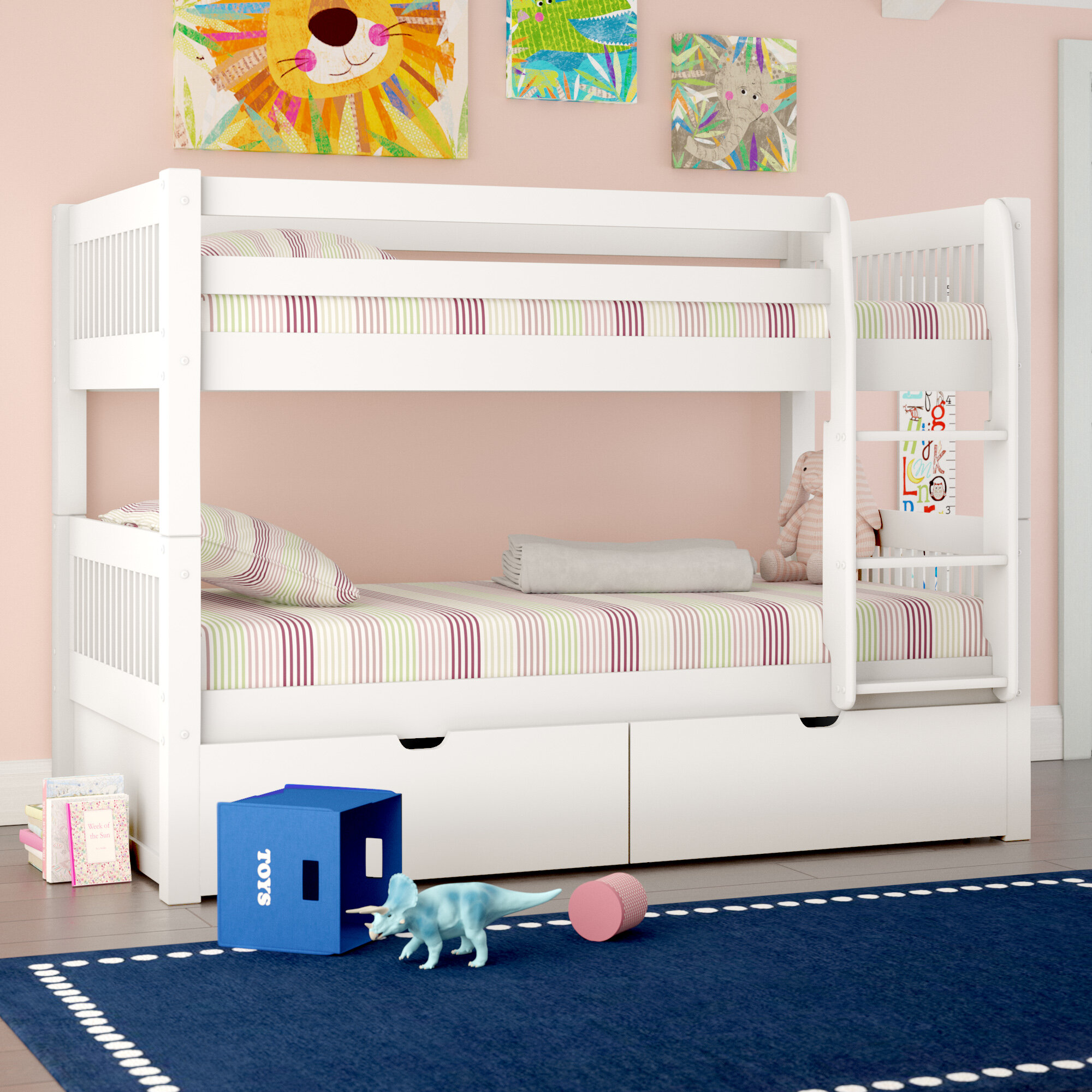 Viv + Rae Isabelle Twin Over Twin Bunk Bed With