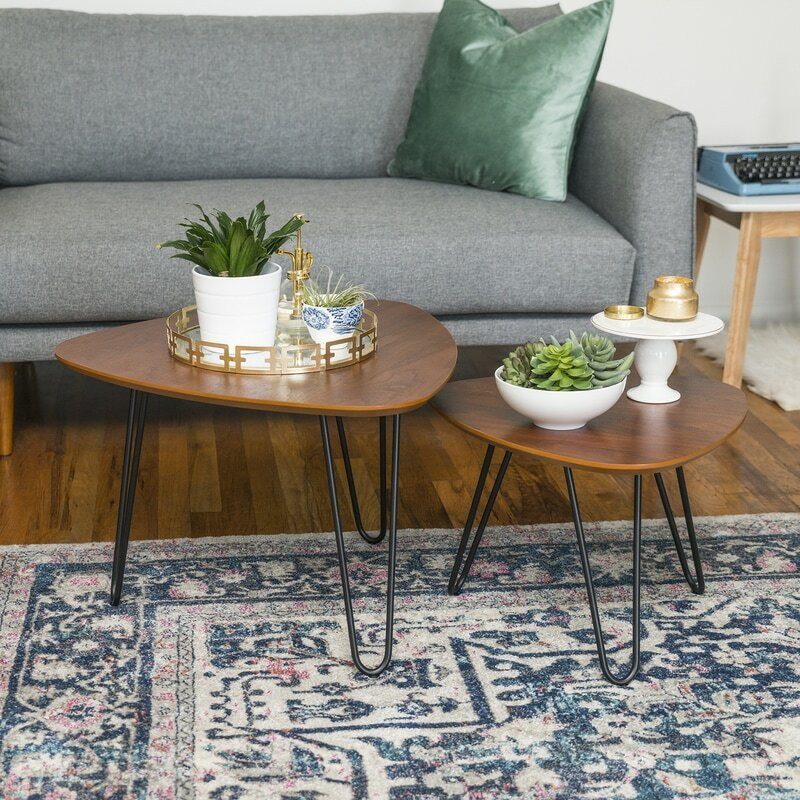 Triangle Coffee Table Sets Youll Love Wayfair