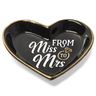 Messages & Moments 'From Miss to Mrs.' Accessory Tray By Prinz
